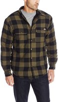 Dickies Men's Sherpa Lined Plaid Shirt Jacket