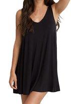 LUNIWEI Women Plus Size A-Line Sleeveless Loose Mini Dress