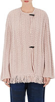 Raquel Allegra Women's Fringed-Hem Baby Alpaca-Blend Sweater-PINK