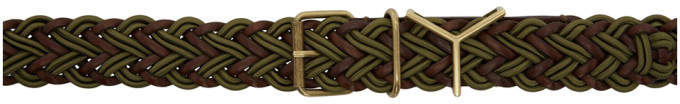 Y/Project Brown and Green Braided Y Belt