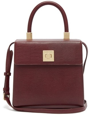 Sparrows Weave - The Classic Lizard-embossed Box Bag - Womens - Burgundy