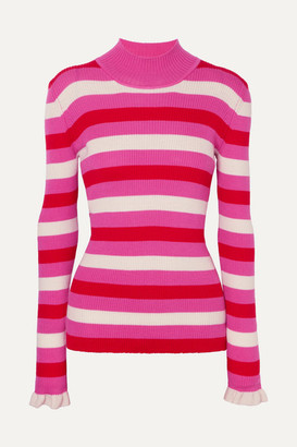 Maggie Marilyn You Make Me Happy Striped Merino Wool Sweater - Pink
