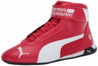 Puma Unisex's Ferrari R-cat Mid Sneaker Rosso Corsa White Black Numeric_4_Point_5