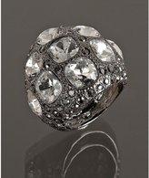 gunmetal crystal cocktail ring