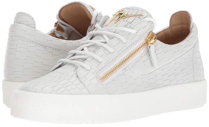 Giuseppe Zanotti May London Textured Low Top Sneaker Men's Shoes