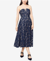 Fame and Partners Strapless Lace Midi Dress