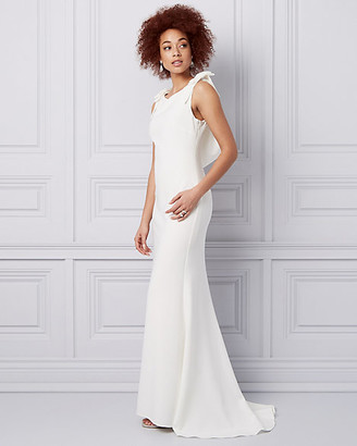 Le Château Embellished Triacetate Cowl Neck Gown