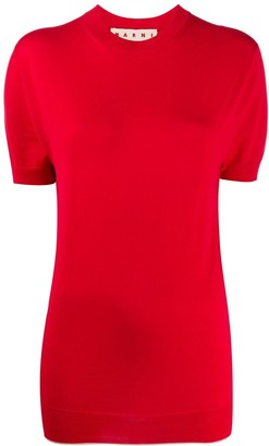 Marni Short-Sleeved Knitted Top