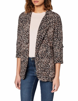 New Look Women's T Mark Animal Blazer S8 Suit Jacket