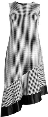 MICHAEL Michael Kors Asymmetric Houndstooth Dress