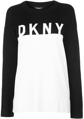 DKNY Long Sleeve Crew Neck Knitted Jumper Womens
