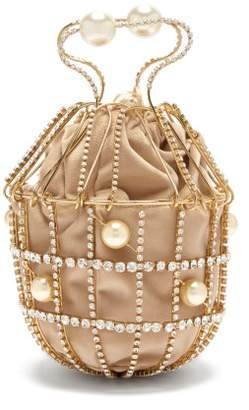 Rosantica Ginestra Crystal-embellished Clutch - Womens - Gold