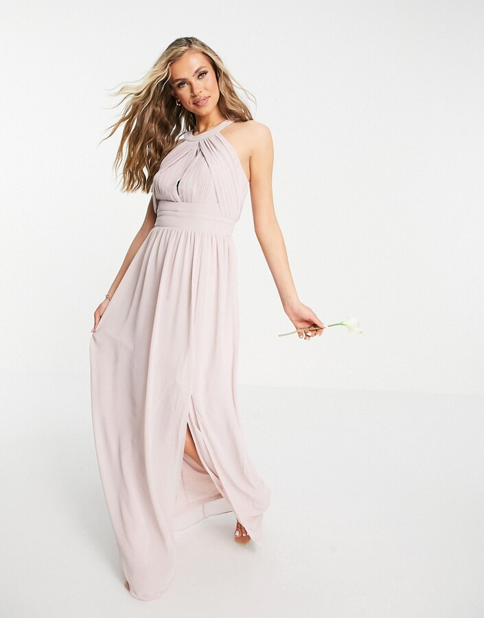 Thumbnail for your product : TFNC Bridesmaid pleated maxi dress in mink