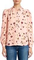 Joie Myella Floral Mandarin Collar Blouse