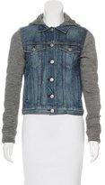 Rag & Bone Denim & Knit Casual Jacket