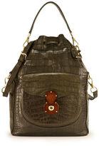 Ralph Lauren Alligator Ricky Drawstring Bag