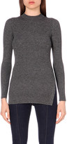 Mo&Co. Ribbed-knit wool top