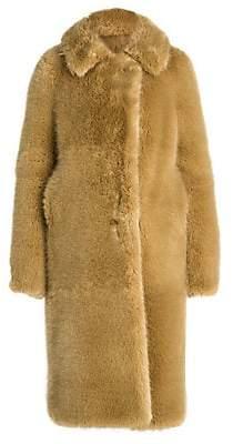 Stella McCartney Women's Long Faux-Fur Teddy Coat