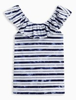 Splendid Girl Indigo Stripe Peasant Top