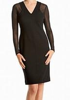 Calvin Klein Black Women's Size 2 Illusion V-Neck Sheath Dress