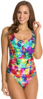 Seafolly Sonic Bloom Tank Maillot One Piece Swimsuit 8122069