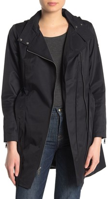 Vince Camuto Belted Hooded Trench Coat