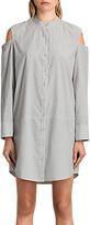 AllSaints Floria Stripe Dress, Grey/Chalk