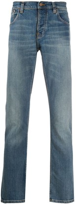 Nudie Jeans mid-rise straight leg jeans