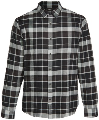 Vince Brushed Multi Plaid Long Sleeve Shirt