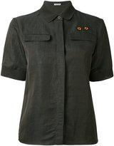 Tomas Maier short sleeve shirt - women - Linen/Flax/Polyester/Viscose - 4