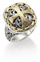 Konstantino Classics Daphne 18K Yellow Gold & Sterling Silver Filigree Cross Ring