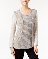 Style&Co. Style & Co Marled Colorblocked Sweater, Only at Macy's
