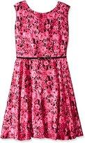 Julian Taylor Women's Plus-Size Floral Print Dress with Belt