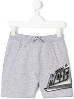 Moschino Kids - logo print track shorts - kids - Cotton - 4 yrs