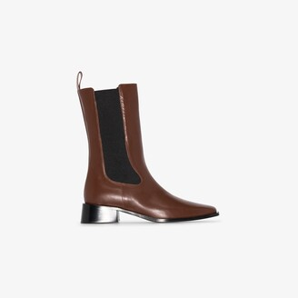Neous Brown Pros Leather Chelsea Boots