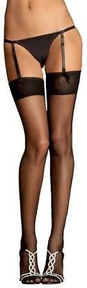 Rene Rofe Garter G-String Set & Fishnet Stockings