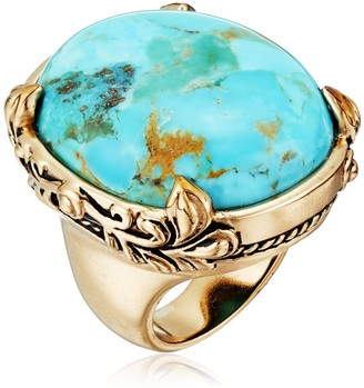 """Barse Jubilee"""" Turquoise Oval Ring Size 6"""