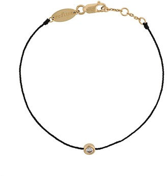 Redline 18kt Gold And Diamond Silk Cord Bracelet