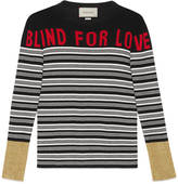 """Gucci """"Blind for Love"""" striped knit top"""