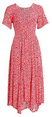Free People Women's In Full Bloom Handkerchief A-Line Midi Dress