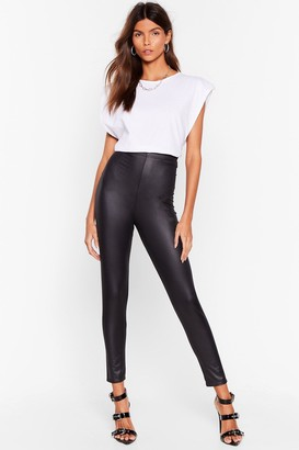 Nasty Gal Womens Wet You Looking At High-Waisted Leggings - Black
