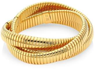 Bagutta Alberto Milani Via 18K Yellow Gold Wrap Around Bangle