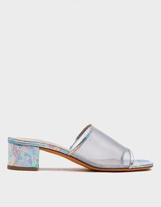 Maryam Nassir Zadeh Women's Sophie Mesh Slide Shoes in Oil Spill, Size 36.5 | Leather
