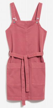Armedangels Leoniaa Pink Organic Cotton Overalls Dress - L / Rose