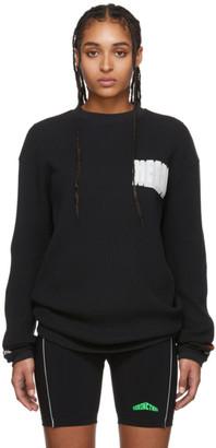 Heron Preston Black Bold Logo Long Sleeve T-Shirt