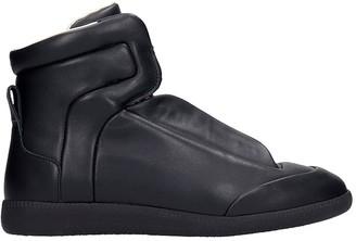 Maison Margiela Future Sneakers In Black Leather