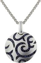 Effy Jewelry Effy 925 Sterling Silver Blue Sapphire Pendant, 1.82 TCW