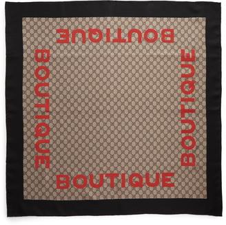 Gucci Boutique Square Silk Scarf