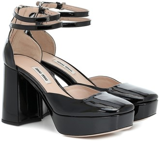 Miu Miu Patent leather platform pumps
