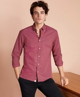 Brooks Brothers Red Dot-Print Poplin Sport Shirt